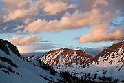 Sunset over Mount Nimbus, Never Summer Wilderness, Colorado.