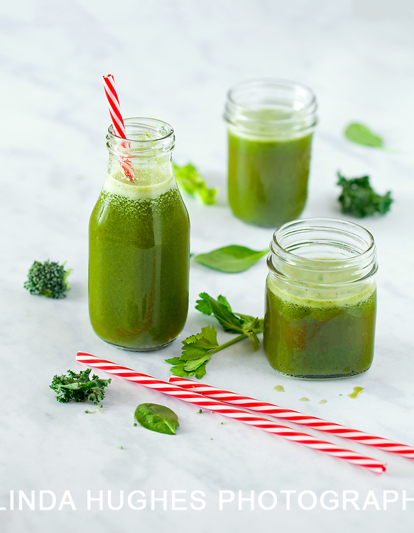 Organic Green Juice made from leafy green vegetables and fruit