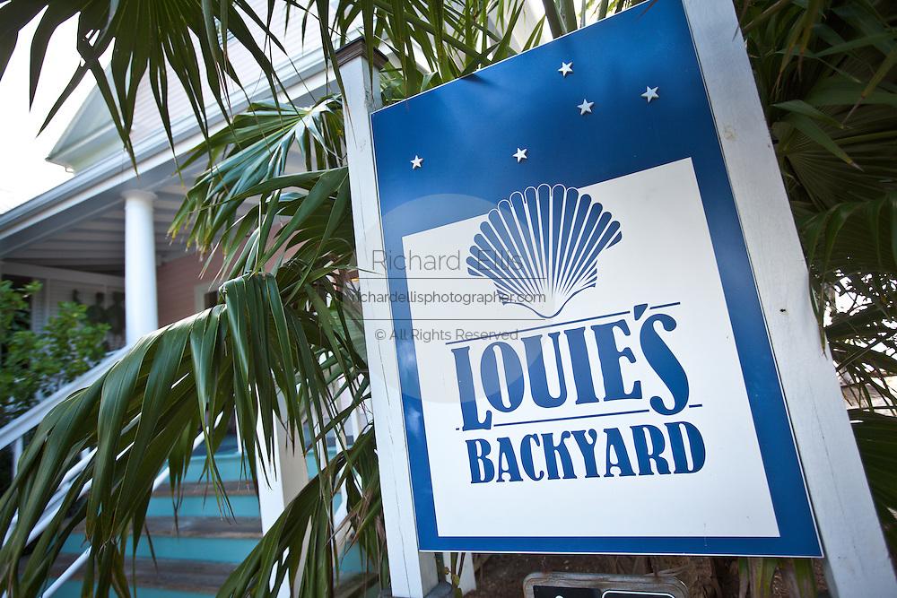 Louie's Backyard famous restaurant in Key West, Florida.