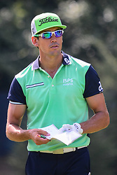 August 9, 2018 - Town And Country, Missouri, U.S - RAFAEL CABRERA BELLO from Spain checks his notes before teeing off on hole number 13 during round one of the 100th PGA Championship on Thursday, August 8, 2018, held at Bellerive Country Club in Town and Country, MO (Photo credit Richard Ulreich / ZUMA Press) (Credit Image: © Richard Ulreich via ZUMA Wire)