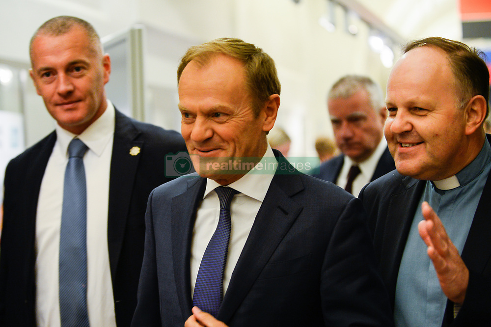 October 6, 2018 - Krakow, Poland - The President of European Council Donald Tusk arrives during the XVIII International Conference : ''The role of the Catholic Church in the process of European integration' (Credit Image: © Omar Marques/SOPA Images via ZUMA Wire)