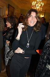 AMANDA ASPINAL at a party to celebrate the publication of Andrew Robert's new book 'Waterloo: Napoleon's Last Gamble' and the launch of the paperback version of Leonie Fried's book 'Catherine de Medici' held at the English-Speaking Union, Dartmouth House, 37 Charles Street, London W1 on 8th February 2005.<br />