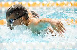 Timotej Masten of PK Ilirija Ljubljana competes in 4x100m Medley during Slovenian Swimming National Championship 2014, on August 3, 2014 in Ravne na Koroskem, Slovenia. Photo by Vid Ponikvar / Sportida.com