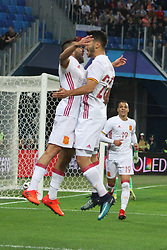 November 14, 2017 - Saint Petersburg, Russia - Of The Russian Federation. Saint-Petersburg. Arena Saint Petersburg, Zenit-arena. Friendly Match. The football world Cup. Team Russia Vs Team Spain. 3:3. Joy; goal; win; (Credit Image: © Russian Look via ZUMA Wire)