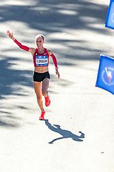 04-11-2018 USA: 2018 TCS NYC Marathon, New York<br /> Race day  TCS New York City Marathon / Shalane Flanagan finish third in 2:26:22 (United States)