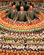 Barton Bo Boyd, the President of Consumer Products for The Walt Disney Company with Beanie Babies.
