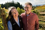 Dick & Dierdre Shea at Shea Vineyards, Chehalem Mountains, Willamette Valley, Orego