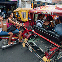 Tens of 1000's of 3-wheeled motocarros make Iquitos one of the noisiest cities in Peru.