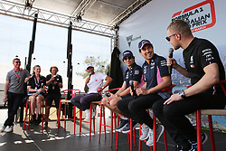 March 16, 2019 - LEWIS HAMILTON, LANCE STROLL, SERGIO PEREZ and VALTTERI BOTTAS attending the F1 Driver Q&A Panel on Qualifying Saturday at the 2019 Formula 1 Australian Grand Prix on March 16, 2019 In Melbourne, Australia  (Credit Image: © Christopher Khoury/Australian Press Agency via ZUMA  Wire)