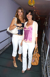 Left to right, SASKIA BOXFORD and her mother PILAR BOXFORD at a polo players party hosted by AJM International Publishing and Cartier celebrating the 21st anniversary of the Cartier International Polo held at The Collection, London SW3 on 19th July 2005.<br /><br />NON EXCLUSIVE - WORLD RIGHTS