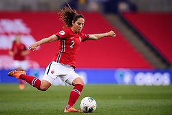 OSLO, NORWAY - Tuesday, September 22, 2020: Norway's Ingrid Moe Wold during the UEFA Women's Euro 2022 England Qualifying Round Group C match between Norway Women and Wales Women at the Ullevaal Stadion. Norway won 1-0. (Pic by Vegard Wivestad Grøtt/Propaganda)