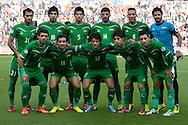 14.09.13. Brondby, Denmark.Irak's team before the match during the international friendly against Irak at the Brondbyn Stadium in Denmark.Photo: © Ricardo Ramirez