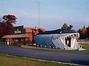 The Big Fish Supper Club featuring a 65-foot-long open-mouthed muskie that appeared in the opening credits of National Lampoon's Vacation, U.S. 2 near Lake Winnibigoshish, Bena, Minnesota.  Owned since 2010 by Al and Amy Hemme.