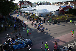 Veloconcept Cycling Team rolls off the start ramp to start the Crescent Vargarda - a 42.5 km team time trial, starting and finishing in Vargarda on August 11, 2017, in Vastra Gotaland, Sweden. (Photo by Balint Hamvas/Velofocus.com)