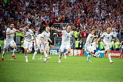 July 1, 2018 - Moscow, Russia - 180701 Russia celebrates with his teammates after the penalty shoot-out during the FIFA World Cup round of 16 match between Spain and Russia on July 1, 2018 in Moscow..Photo: Petter Arvidson / BILDBYRÃ…N / kod PA / 92080 (Credit Image: © Petter Arvidson/Bildbyran via ZUMA Press)