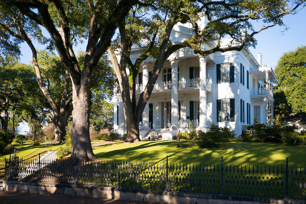 Stanton Hall, Greek Revival style 19th Century antebellum mansion house in Natchez, Mississippi, USA