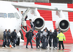 Scott McTominay as the Manchester United team fly to Wales on Tuesday morning for their Carabao Cup match against Swansea City