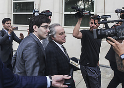 August 4, 2017 - Brooklyn, New York, United States - 'Pharma Bro' Martin Shkreli, 34, leaves court after a jury fails to reach a verdict where faces up to 20 years in prison on security fraud charges at Brooklyn Federal Court on Thursday, August 3, 2017. (Credit Image: © Byron Smith via ZUMA Wire)
