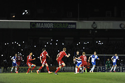Bristol Rovers fans light their phones in the background during the Vanarama Conference game between Bristol Rovers and Aldershot Town at the Memorial Stadium - Photo mandatory by-line: Dougie Allward/JMP - Mobile: 07966 386802 - 20/03/2015 - SPORT - Football - England - Memorial Stadium - Bristol Rovers v Aldershot - Vanarama Football Conference