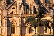 PORTUGAL, BATALHA ABBEY 1388 masterpiece with Joao I statue