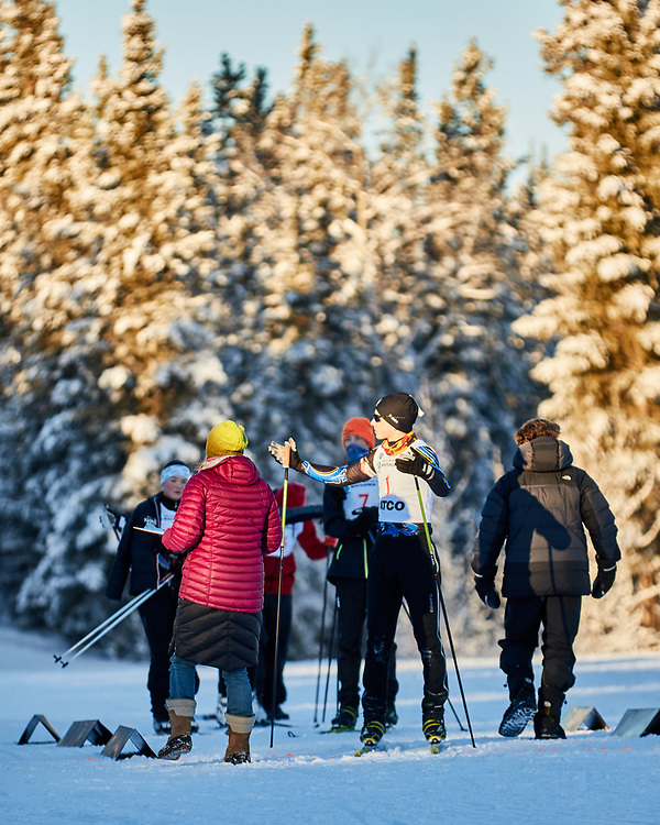 Members of Biathlon Yukon particiapate in a time trial on Grey Mountain. This is in preparation for upcoming events, including Canada Winter Games.