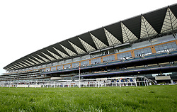 A general view of the grand stand during Royal Ascot Trials Day at Ascot Racecourse.