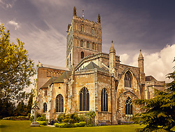 The magnificent Norman Abbey at Tewkesbury , Gloucestershire, UK