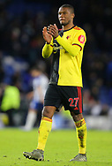 Watford's Christian Kabasele applauds the fans after the Premier League match at the American Express Community Stadium, Brighton and Hove. Picture date: 8th February 2020. Picture credit should read: Paul Terry/Sportimage