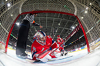 KELOWNA, BC - JANUARY 31: Lukáš Pařík #33 of the Spokane Chiefs gets up off the ice at the start of the game against the Kelowna Rockets at Prospera Place on January 31, 2020 in Kelowna, Canada. Pařík is a 2019 NHL entry draft pick of the Los Angeles Kings. (Photo by Marissa Baecker/Shoot the Breeze)