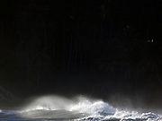 Waves breaking on Papanasham Beach (Beach of Redemption), Varkala, Kerala, India