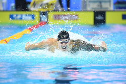 HANGZHOU, Dec. 12, 2018  Caeleb Dressel of the United States competes during Men's 100m Butterfly semifinal at 14th FINA World Swimming Championships (25m) in Hangzhou, east China's Zhejiang Province, on Dec. 12, 2018. (Credit Image: © Xinhua via ZUMA Wire)