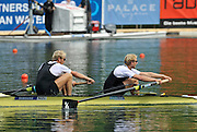 Lucerne, SWITZERLAND.  NZL M2- Bow Eric MURRAY And Hamish BOND, winning the final of the men's pair.  2012 FISA World Cup II, Lucerne Regatta.  Rotsee  Rowing Course,  Sunday  27/05/2012    [Mandatory Credit Peter Spurrier/ Intersport Images]
