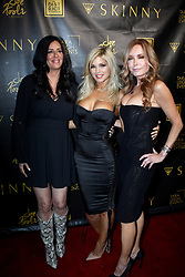 """Donna D'Errico launches her cannibis vape product """"Skinny"""" At District Restaurant with celebrity guests Tracey Bergman, Patty Stanger, Heather Chadwell, Phoebe Price, Chuey Bravo and others. 18 Jun 2019 Pictured: Donna D'Errico. Photo credit: APEX / MEGA TheMegaAgency.com +1 888 505 6342"""