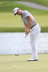 June 21, 2018 - Cromwell, Connecticut, United States - CROMWELL, CT-JUNE 21: Justin Thomas putts the 17th green during the first round of the Travelers Championship on June 21, 2018 at TPC River Highlands in Cromwell, Connecticut. (Credit Image: © Debby Wong via ZUMA Wire)