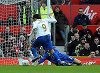 Tomasz Kuszczak brings down Portsmouth's Milan Baros for Penalty<br /> Manchester United 2007/08<br /> Manchester United V Portsmouth (0-1) 08/03/08<br /> The FA Cup 6th Round<br /> Photo Robin Parker Fotosports International