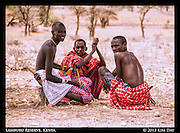 Samburu Herders  Resting Under A Tree<br /> Outside Samburu National Reserve, Kenya<br /> September 2012