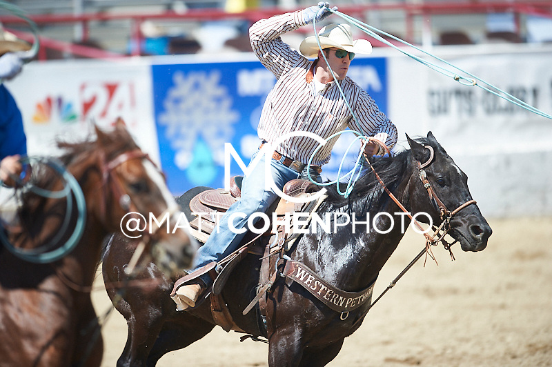Team roper Then Richard of Roosevelt, UT competes at the Redding Rodeo in Redding, CA<br /> <br /> <br /> UNEDITED LOW-RES PREVIEW<br /> <br /> <br /> File shown may be an unedited low resolution version used as a proof only. All prints are 100% guaranteed for quality. Sizes 8x10+ come with a version for personal social media. I am currently not selling downloads for commercial/brand use.