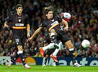 Photo: Ed Godden/Sportsbeat Images.<br /> Arsenal v Sevilla. UEFA Champions League Group H. 19/09/2007. Sevilla's Julien Escude (c), fouls Arsenal's Emmanuel Adebayor.