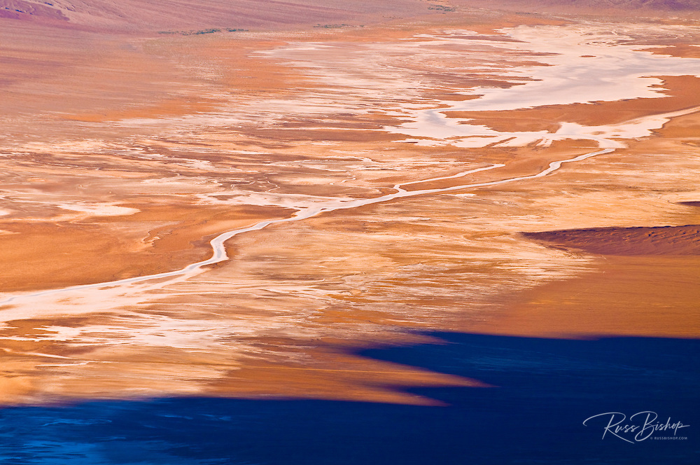 Salt pan detail from Dante's View, Death Valley National Park, California USA