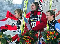 ◊Copyright:<br />GEPA pictures<br />◊Photographer:<br />Franz Pammer<br />◊Name:<br />Widhoelzl<br />◊Rubric:<br />Sport<br />◊Type:<br />Ski nordisch, Skispringen<br />◊Event:<br />FIS Skiflug-Weltcup, Skifliegen am Kulm, Siegerehrung<br />◊Site:<br />Bad Mitterndorf, Austria<br />◊Date:<br />15/01/05<br />◊Description:<br />Roar Ljoekelsoey (NOR), Andreas Wildhoelzl (AUT), Adam Malysz (POL)<br />◊Archive:<br />DCSPA-150105128<br />◊RegDate:<br />15.01.2005<br />◊Note:<br />8 MB - MP/KI - Nutzungshinweis: Es gelten unsere Allgemeinen Geschaeftsbedingungen (AGB) bzw. Sondervereinbarungen in schriftlicher Form. Die AGB finden Sie auf www.GEPA-pictures.com.<br />Use of picture only according to written agreements or to our business terms as shown on our website www.GEPA-pictures.com.