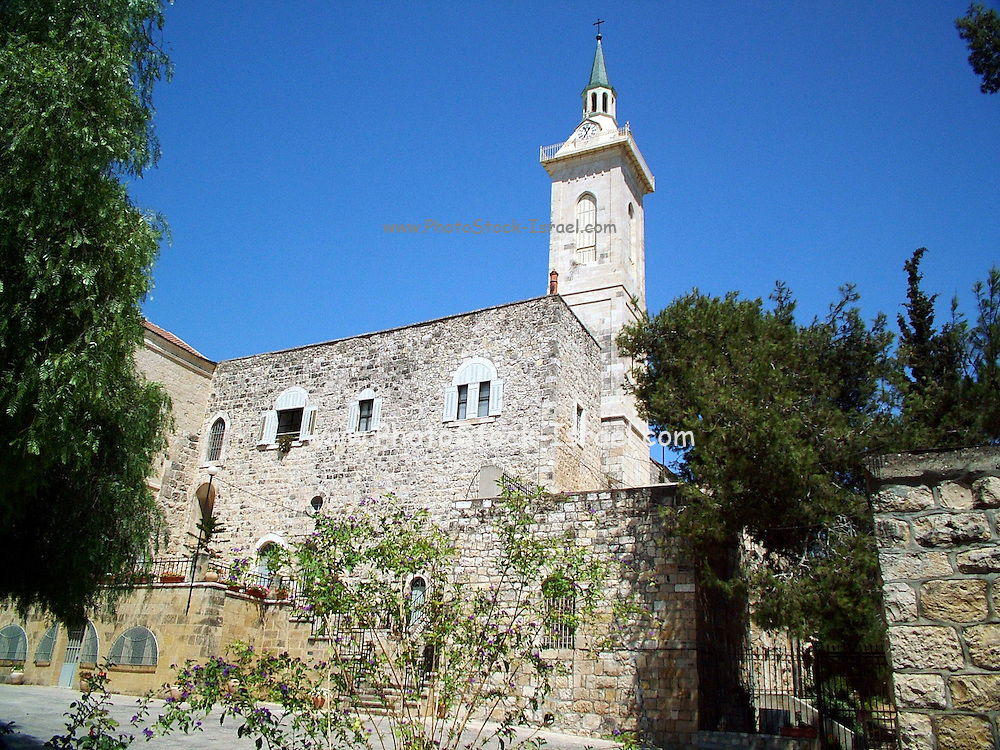 Church of John the baptist, Ein Karem, Israel. Ein Kerem is the traditional birthplace of John the Baptist.the current bulding was built by the Franciscans in 1674