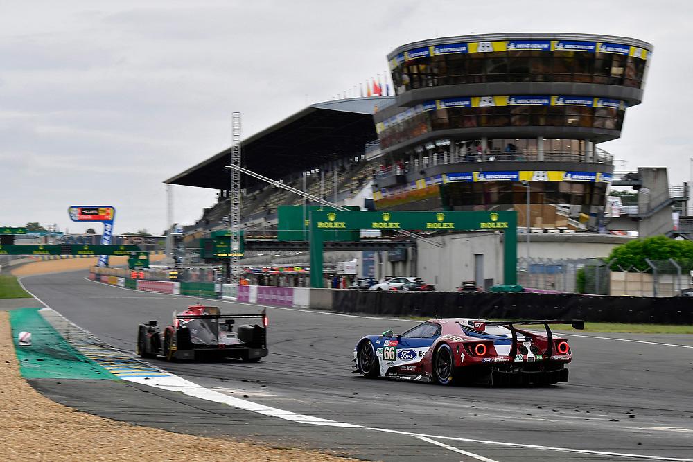 #66 Ford Chip Ganassi Racing Ford GT: Stefan Mücke, Olivier Pla, Billy Johnson<br /> Sunday 17 June 2018<br /> 24 Hours of Le Mans<br /> 2018 24 Hours of Le Mans<br /> Circuit de la Sarthe  FR<br /> World Copyright: Scott R LePage