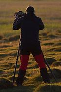 Nikon ambassador photographer Staffan Widstrand at work, Inner Mongolia, China