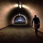 Zizkov. #Prague #praha #prag #czechrepublic #tunnel #light #silhoutte #man #tunnelvision