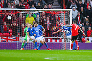 Chris Maguire of Sunderland (7) scores a goal to make the score 1-0 during the EFL Sky Bet League 1 first leg Play Off match between Sunderland and Portsmouth at the Stadium Of Light, Sunderland, England on 11 May 2019.