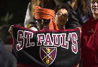 St Paul's Schooi varsity football versus Roxbury Latin.  ©2016 Karen Bobotas Photographer