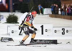 28.12.2013, Veltins Arena, Gelsenkirchen, GER, IBU Biathlon, Biathlon World Team Challenge 2013, im Bild Florian Graf (Deutschland / Germany) // during the IBU Biathlon World Team Challenge 2013 at the Veltins Arena in Gelsenkirchen, Germany on 2013/12/28. EXPA Pictures © 2013, PhotoCredit: EXPA/ Eibner-Pressefoto/ Schueler<br /> <br /> *****ATTENTION - OUT of GER*****