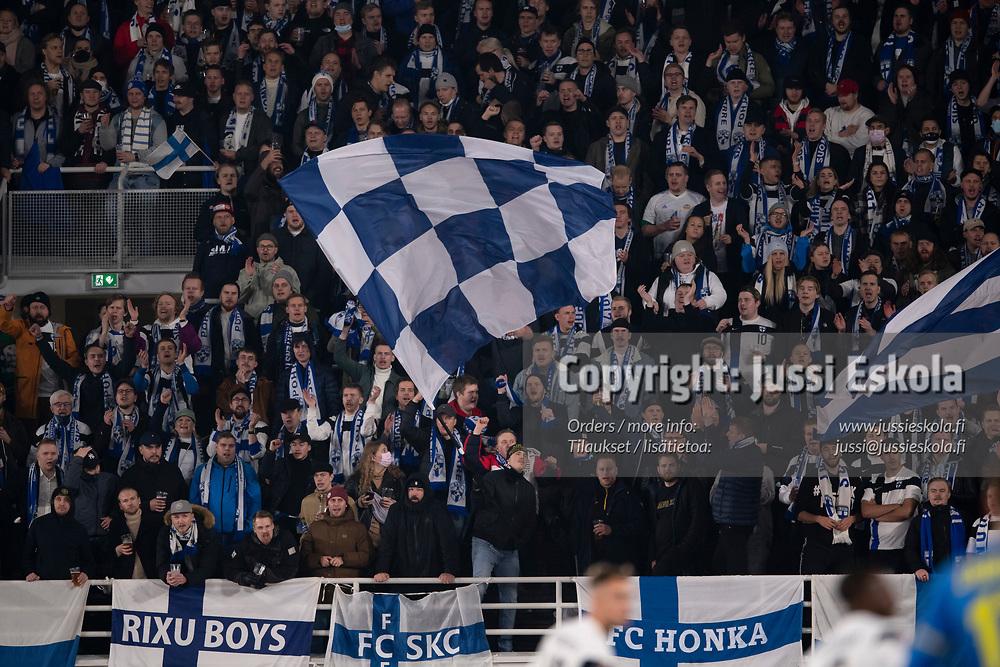 Yleisöä, fanit, Pohjoiskaarre. Suomi - Ukraina. MM-karsinta. Helsinki 9.10.2021. Photo: Jussi Eskola