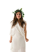 Greek Goddess On white Background
