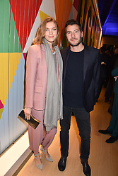 Arizona Muse and  Boniface Verney-Carron at the Range Rover Velar Global Reveal at The Design Museum, London England. 1 March 2017.